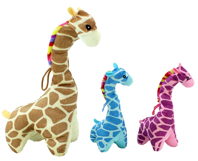 Giraffe stehend 3 Farben sortiert ca 25 cm