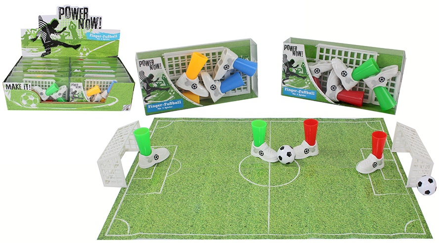 Fußballset Fingerfußball 9 teilig 2 Farben sortiert