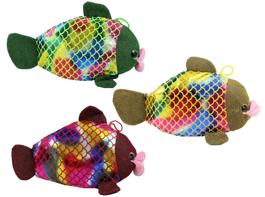 Fisch glitzernd 3-fach sortiert mit Glanzschuppen ca 38 cm