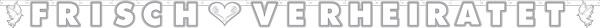 Girlande - Buchstabengirlande Frisch Verheiratet 2,7m