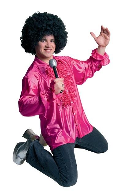 Rüschen-Hemd, pink Größe M