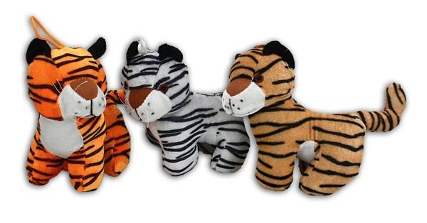 Tiger stehend 3-fach sortiert - ca 15,5 cm