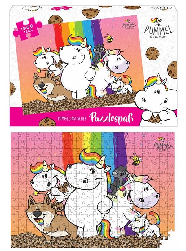 Pummeleinhorn Puzzle 1000 Teile, Freunde - ca 68x48cm