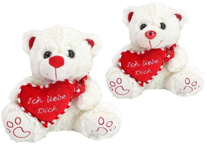 Bär mit Herz 2-fach sortiert - ca 26cm