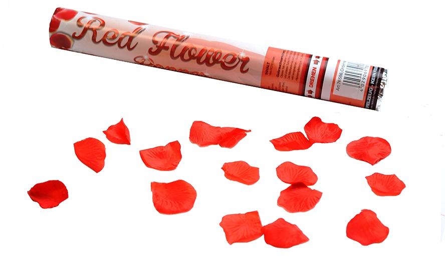 Party Popper Rote Blüten, ca 40cm
