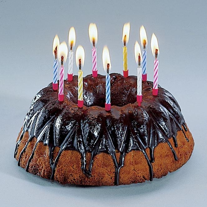 10 magische Kerzen mit Halter