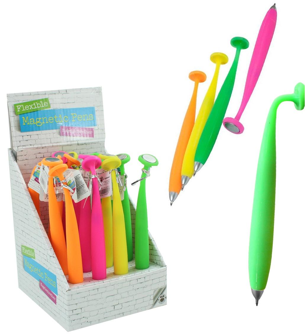 Kugelschreiber flexibel mit Magnet 4 farbig sortiert ca 15cm