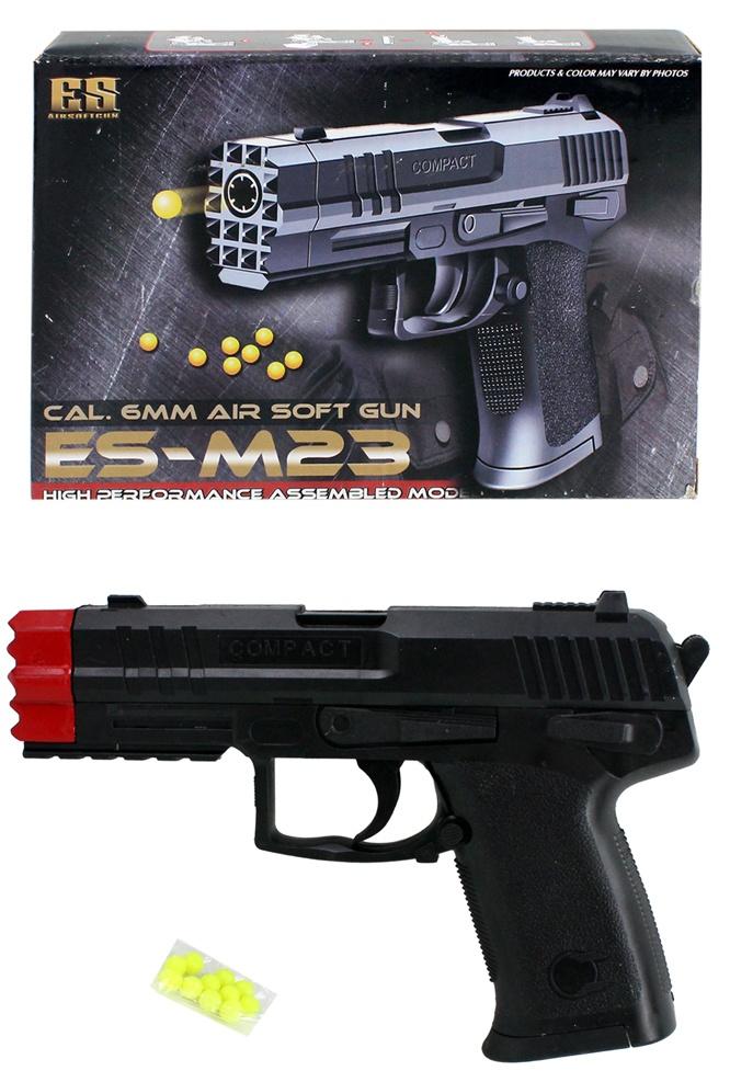 Kugelpistole schwarz max 0,08 Joule - ca 19cm