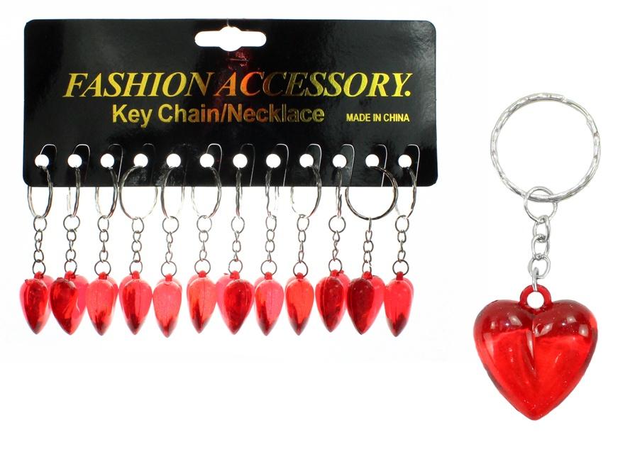 Herz rot an Schlüsselanhänger ca 3 cm