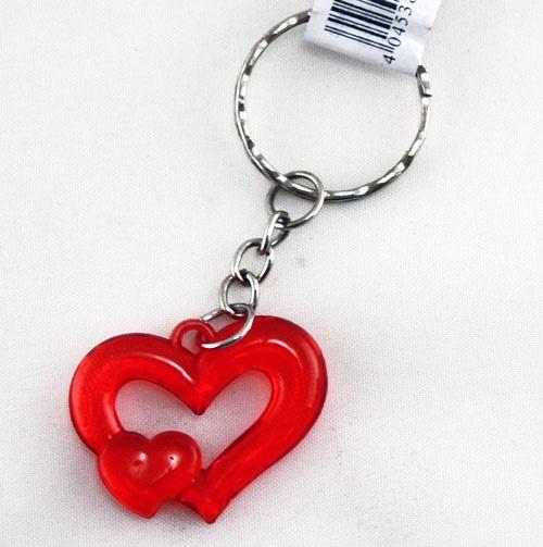 Herzen -rot- an Schlüsselkette ca 3,2 cm