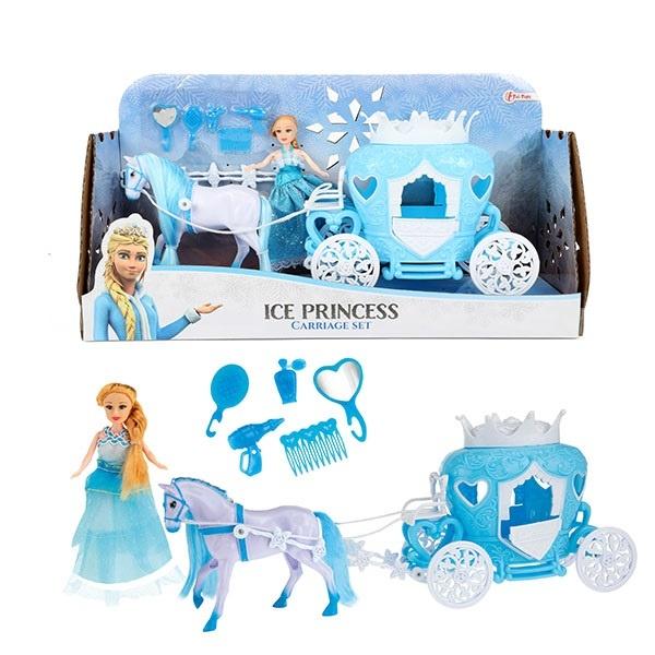 Ice Prinzessin Pferd mit Kutsche, Zubehör und Puppe