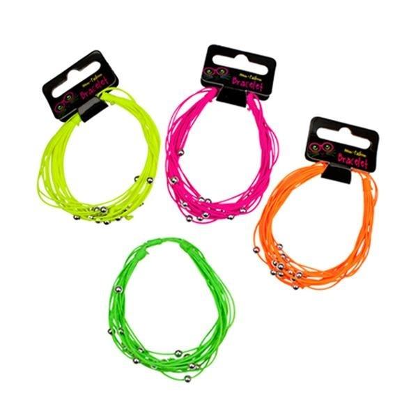 Neon Fashion Armband 4 farbig sortiert