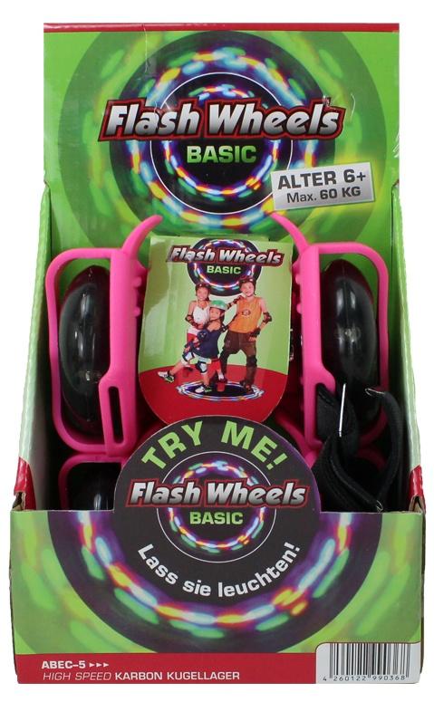 SUNFLEX Flash Wheels BASIC pink bis 60 kg