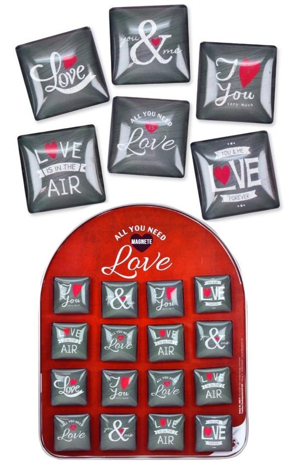 Magnet Thats Life Heart Messages COOLMAGNETS ca 4x4x1cm