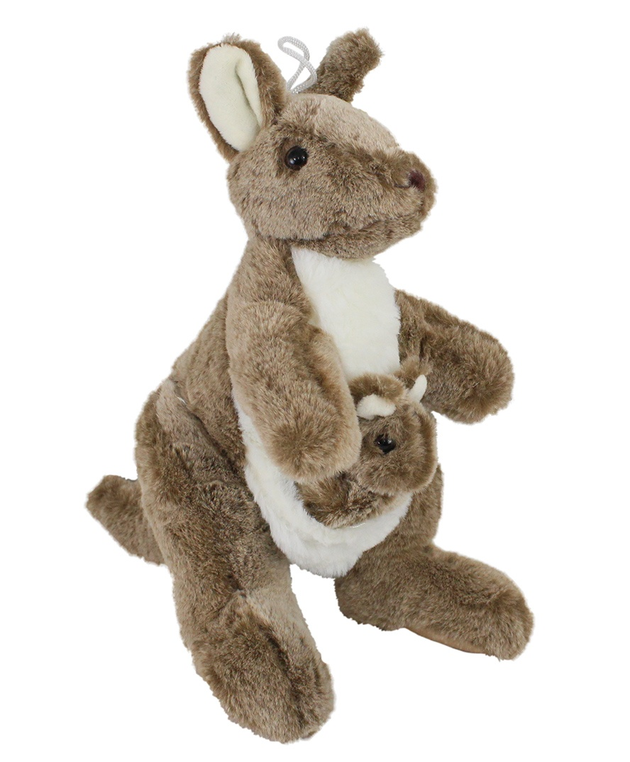 Känguru mit Baby im Beutel - hochwertig - ca 30cm