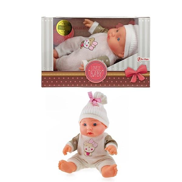 Babypuppe mit Mütze PREMIUM QUALITÄT ca 23 cm