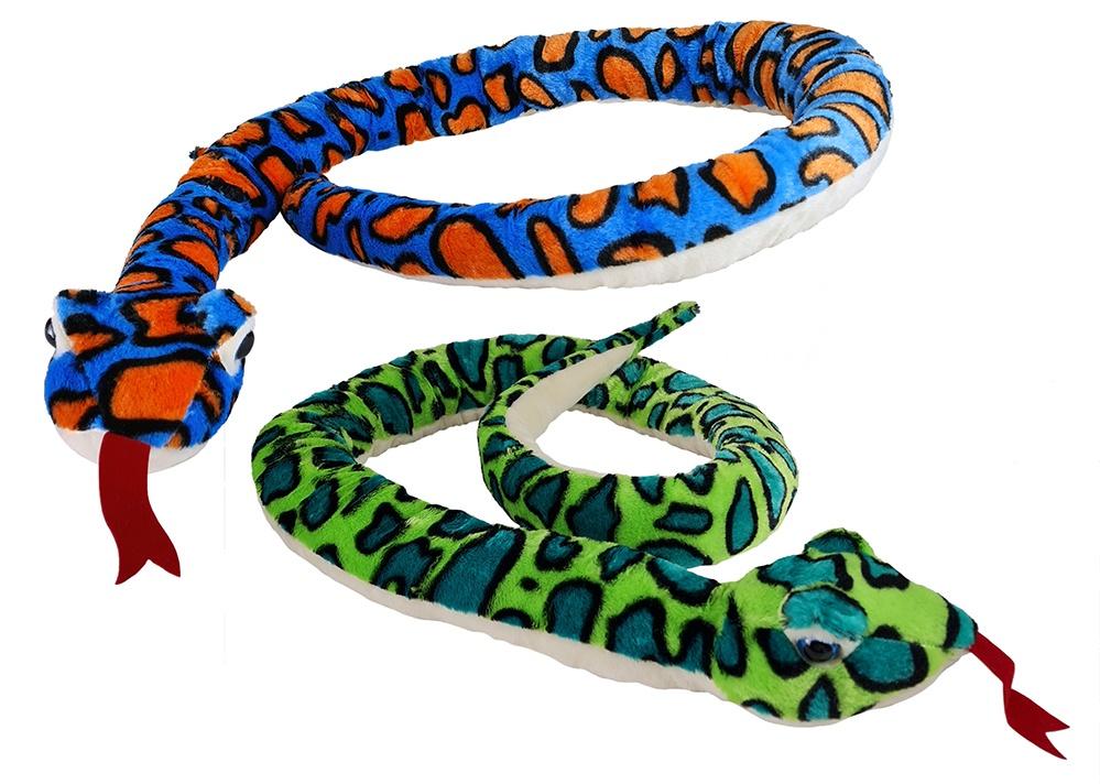 Schlange aus Plüsch 2 Farben sortiert - ca 2 Meter