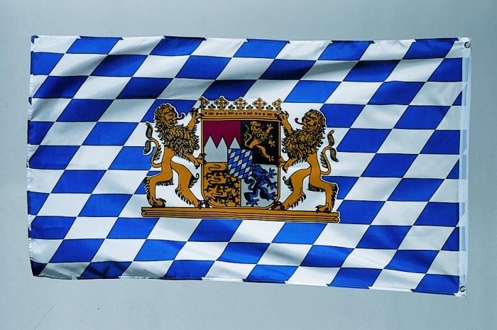Fahne Freistaat Bayern, ca 150 x 90 cm