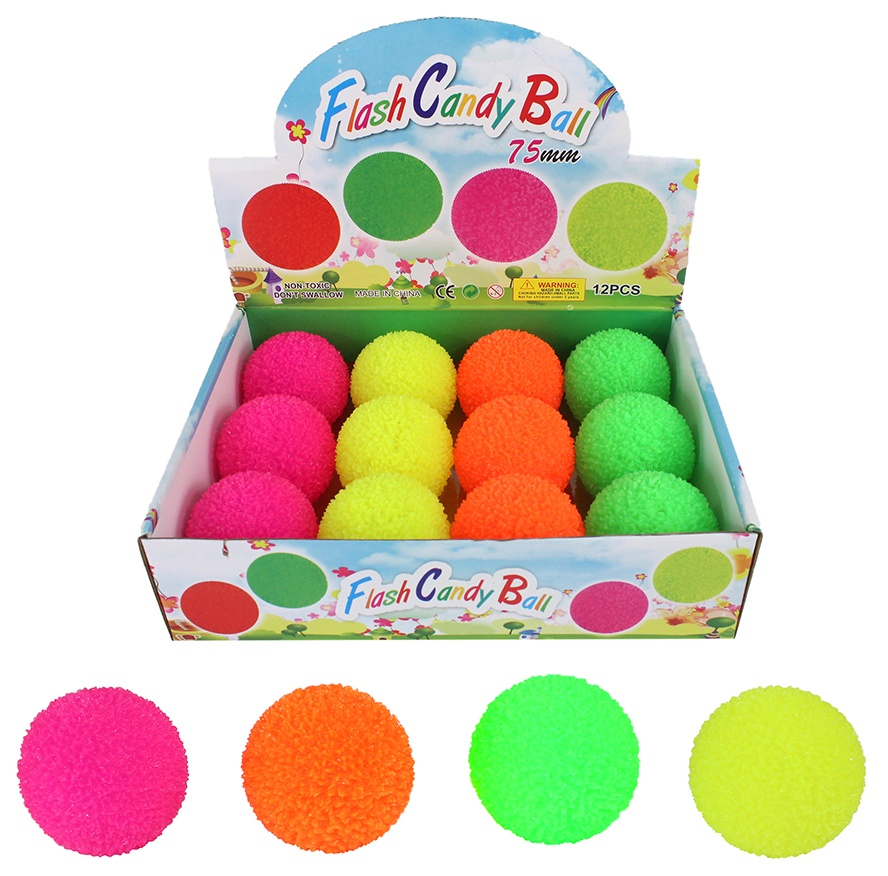 Flummi Dopsball mit Licht 4-farbig sortiert ca 75mm