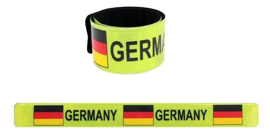 Klatscharmband Deutschland reflektierend ca 29,5x3cm