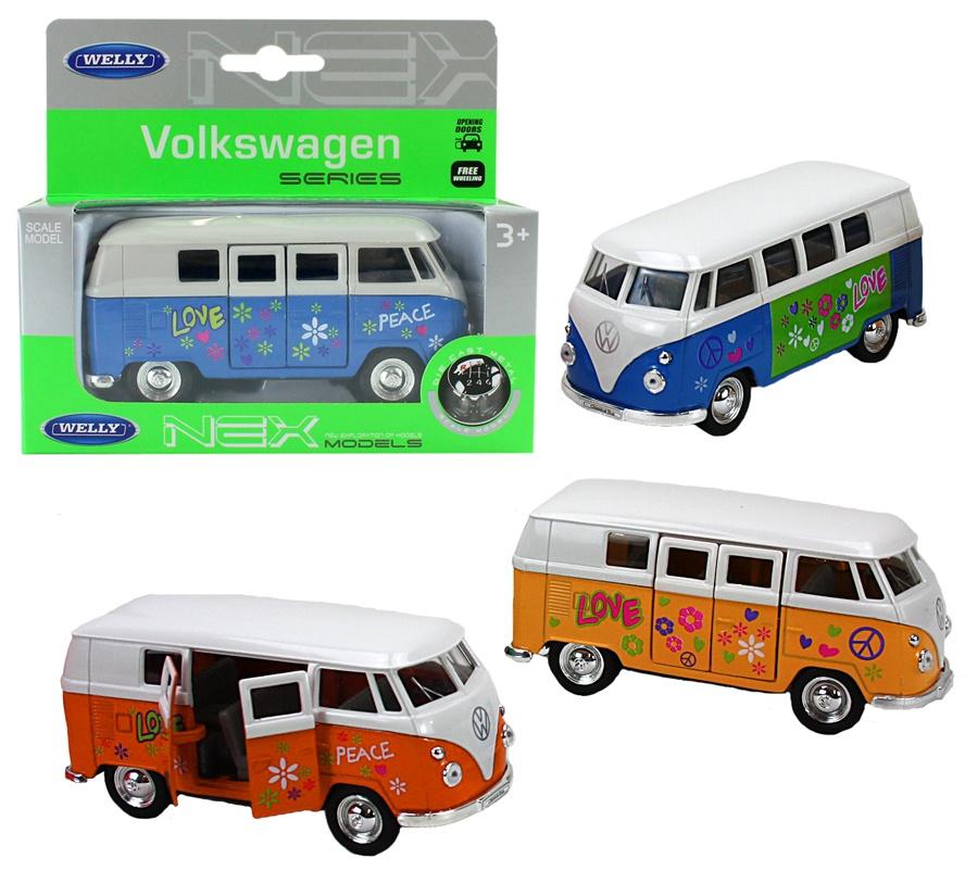 WELLY Volkswagen Bus (1963) Print 3-fach sortiert ca 11,5cm