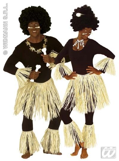 Kostüm - Zulu-Häuptlingsoutfit Raffia