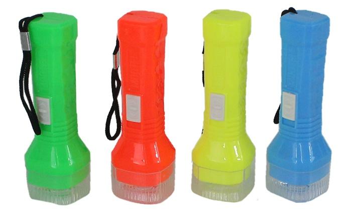 Taschenlampe 4-farbig sortiert ca 9,5cm