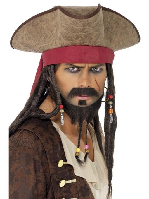 Piratenhut mit Haaren