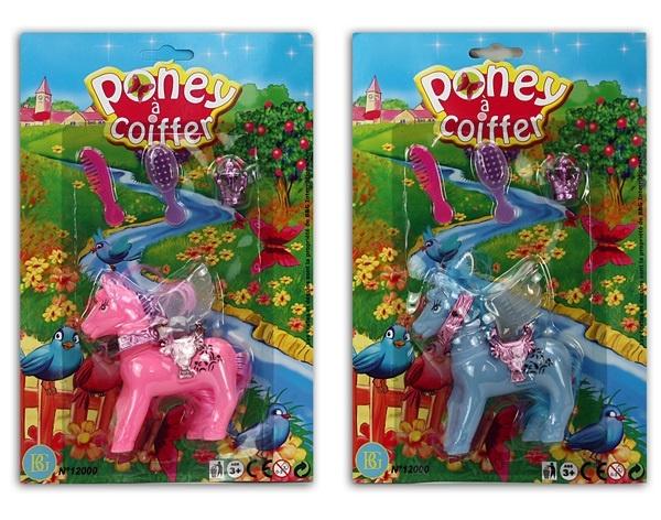 Pony Spielset 2-fach sort mit Zubehör - auf Karte ca 29x19cm