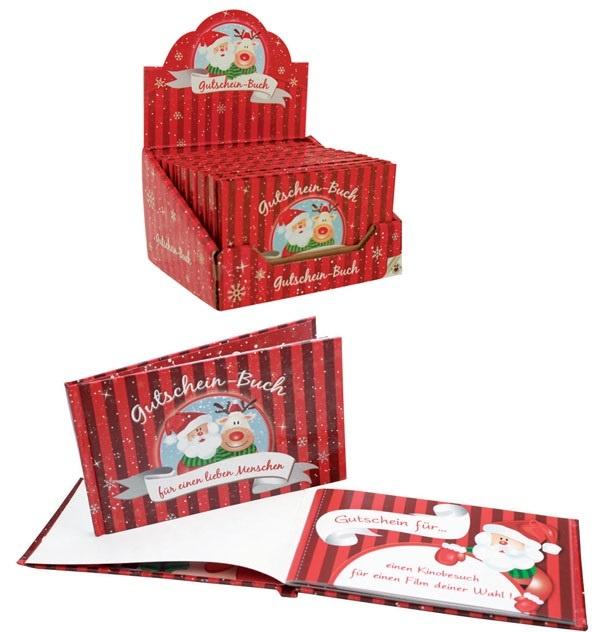 Weihnachtsgutscheinbuch mit 12 Gutscheinen - ca 13x8x0,7cm