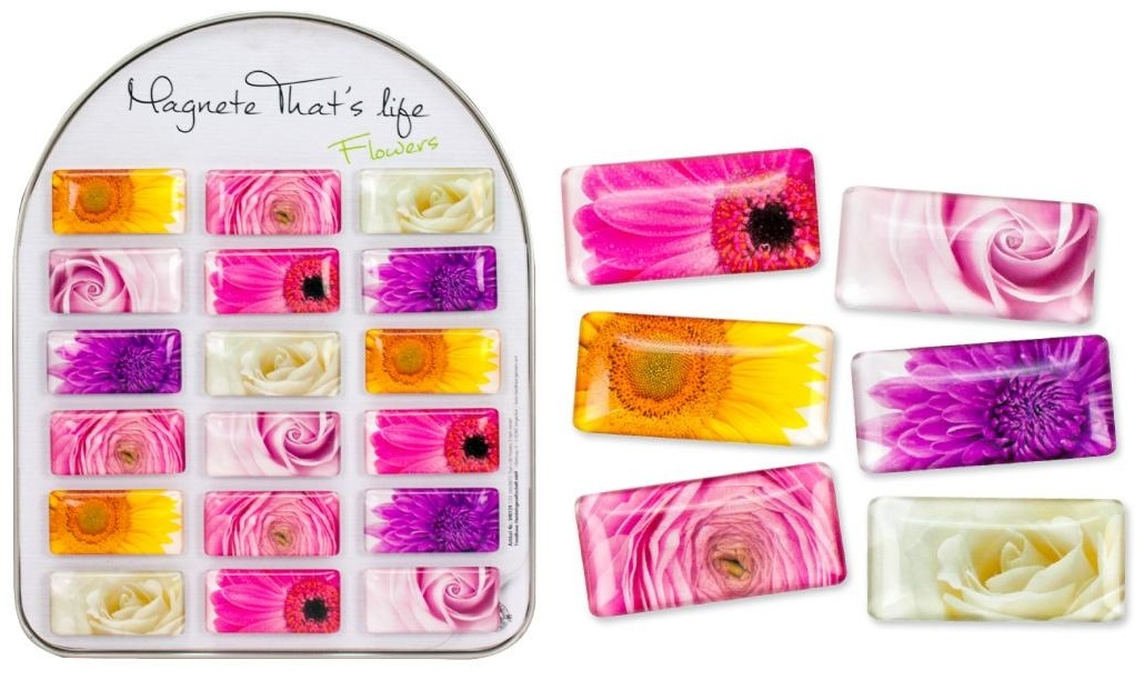 Magnet Thats LIfe Flowers COOLMAGNETS ca 5,7x1x2,7cm