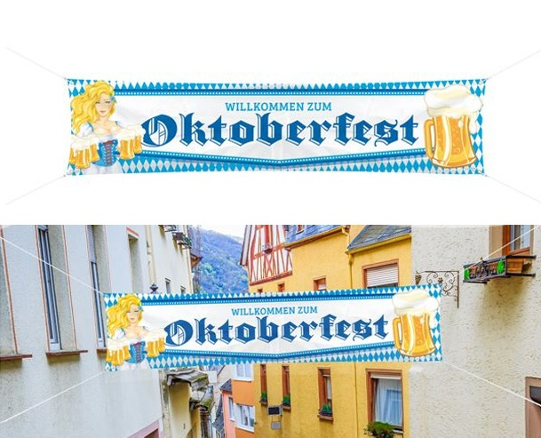 Straßenbanner Oktoberfest ca 180 x 40 cm
