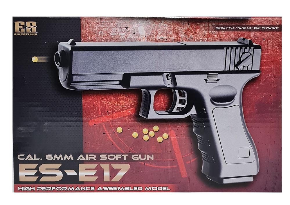 Kugelpistole mit Magazin in Box ca 22x14cm