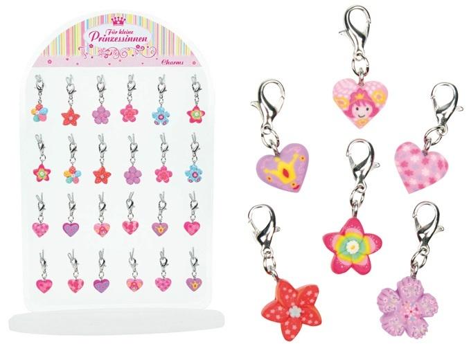 Karabiner Charm Prinzessinanhänger  für Mädchen ca 10 mm