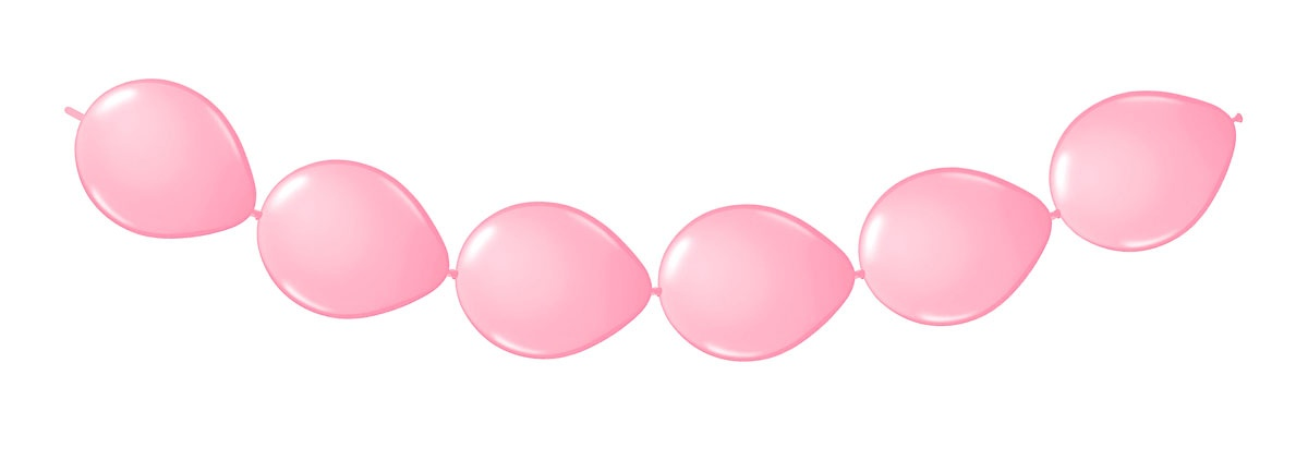Ballongirlande rosa ca 300 cm