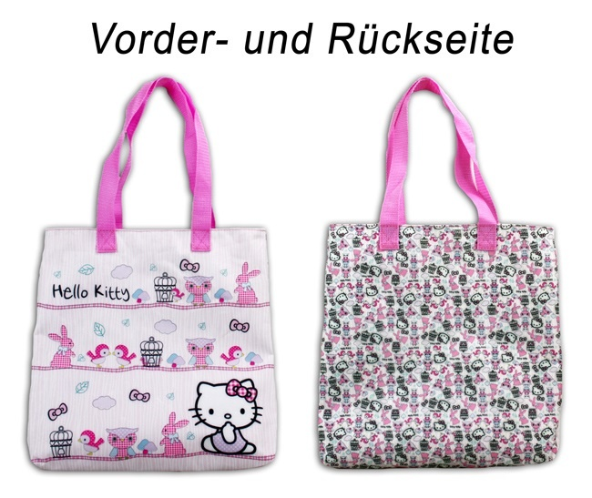 Hello Kitty Woodland Shopping Tasche - ca 33x32x6cm