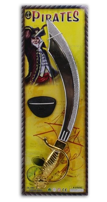 Piratenschwert und Augenklappe auf Karte - ca 53x19cm