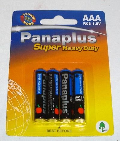 Batterie- AAA  Microzellen R03