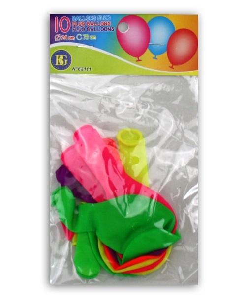Ballons NEON ca 75cm Umfang - 10 Stk im Beutel ca 19x11cm