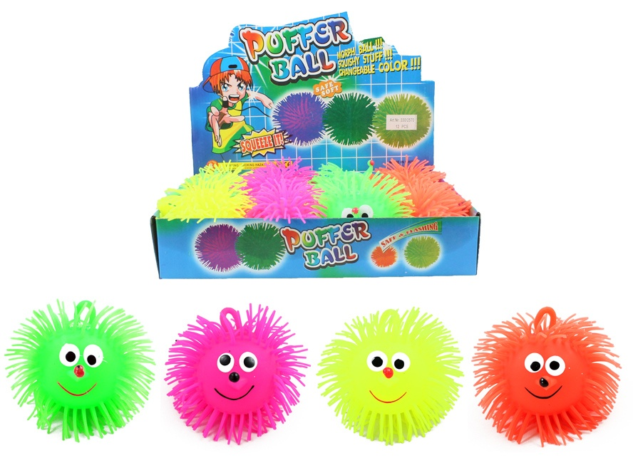 Fluffyball mit Licht farblich sortiert  Durchmeser ca 12 cm