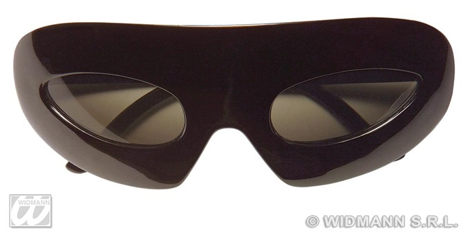 Brille - metallic schwarz