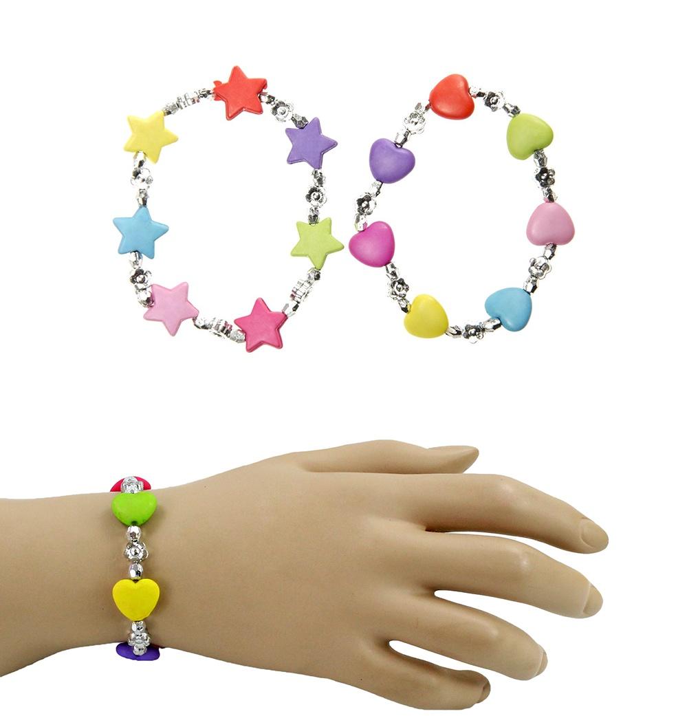 Armband 2-fach sortiert -Stern und Herz- Umfang ca 17cm