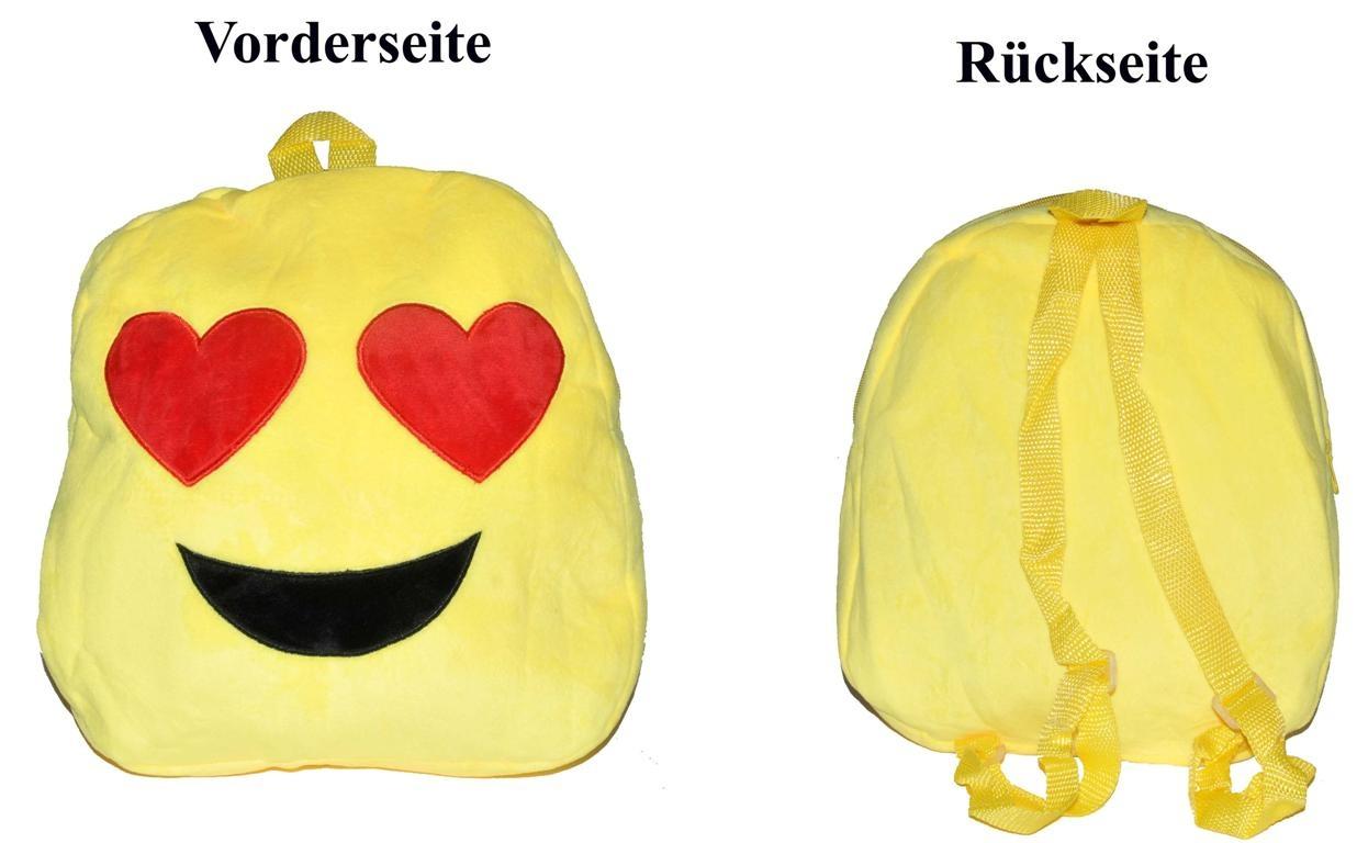 Rucksack Lachgesicht 5 fach sortiert - ca 30x27x6cm