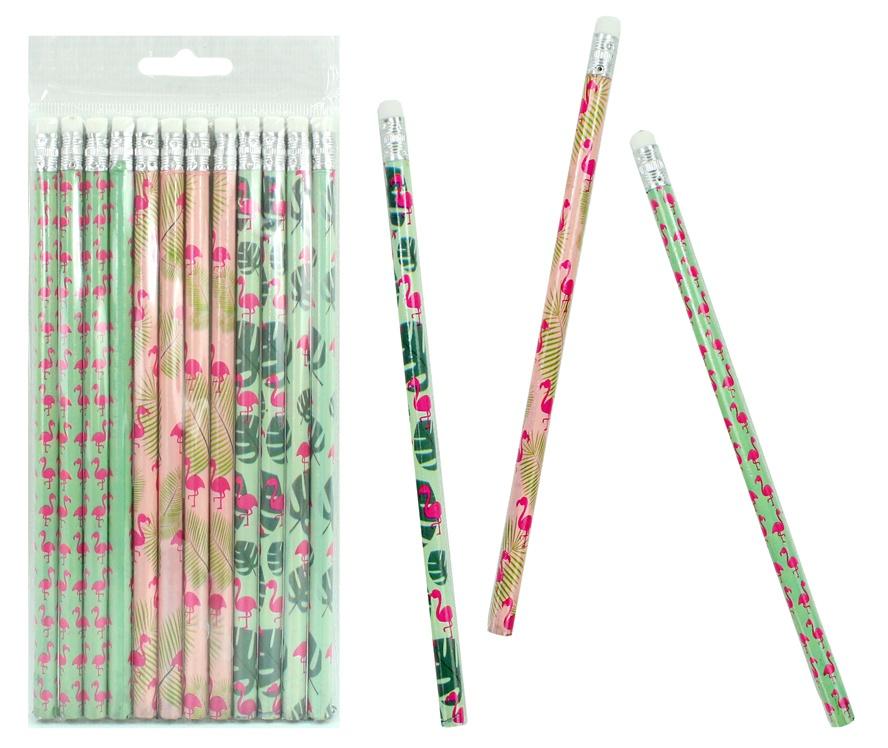 Bleistift Flamingo 3-fach sortiert ca 19 cm