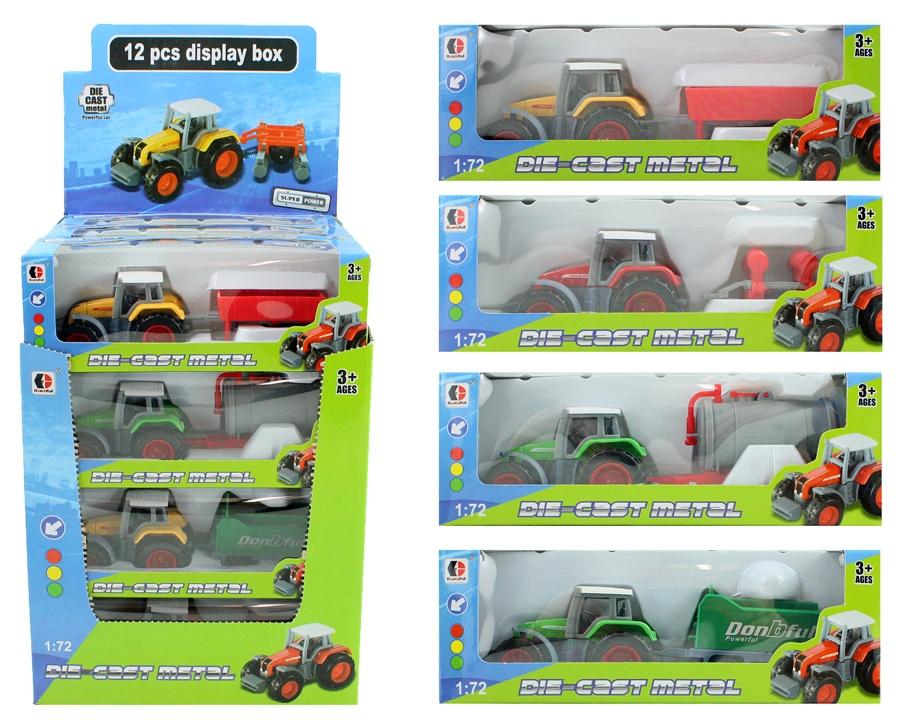 Traktor METALL mit Anhänger mehrfach sortiert