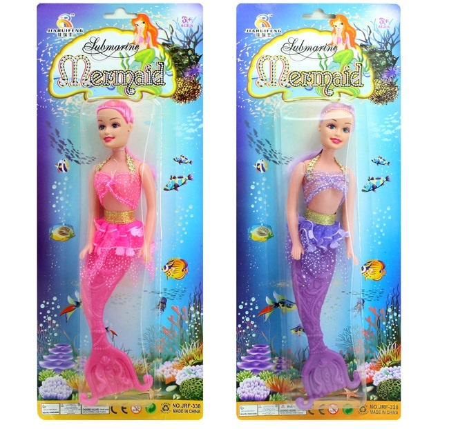 Meerjungfrau 2 fach sortiert auf Karte - ca 38x15cm