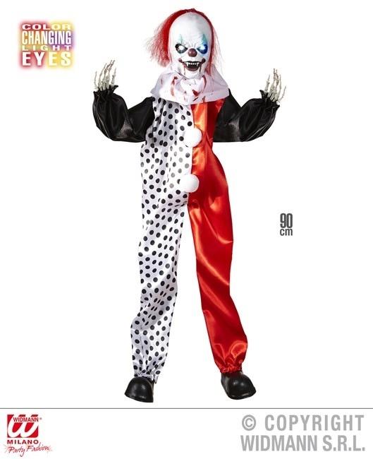 Killer Clown mit leuchtenden Augen ca 90 cm