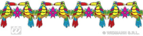 Girlande - Hawaii Tukanvogel ca 3m