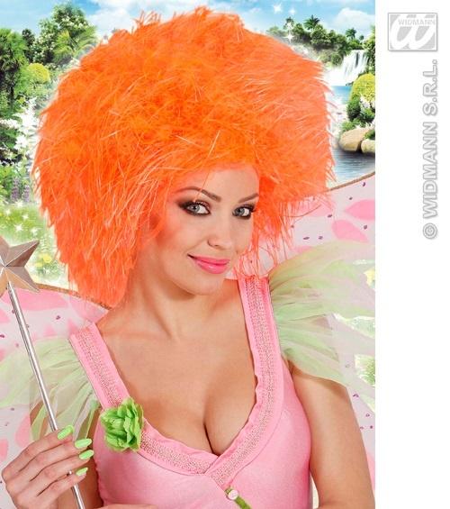 Perücke - Fairy - Fee neon orange