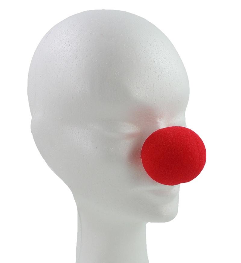 Clown Nase  rot Schaumstoff ca 45 mm